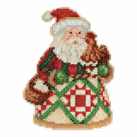 Early Morning Santa Beaded Counted Cross Stitch Kit Mill Hill 2015 Jim Shore JS205104