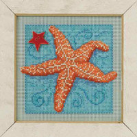 Starfish Cross Stitch Kit Mill Hill 2016 Buttons & Beads Spring MH141615