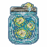 Fireflies Bead Cross Stitch Kit Mill Hill 2016 Spring Bouquet MH181616