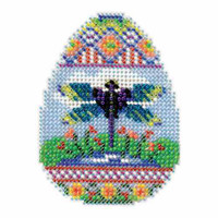 Dragonfly Egg Bead Cross Stitch Kit Mill Hill 2016 Spring Bouquet MH181612