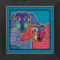 Ol Blue & Red Cross Stitch Kit (Aida) Mill Hill 2016 Laurel Burch Dogs LB301621