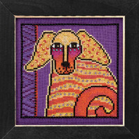 Goldie Cross Stitch Kit (Aida) Mill Hill 2016 Laurel Burch Dogs LB301623