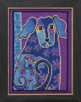 Bloomingtails Cross Stitch Kit (Aida) Mill Hill 2016 Laurel Burch Dogs LB301624