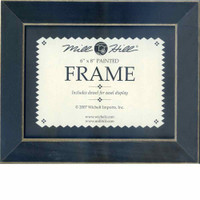 Matte Black Hand Painted Mill Hill 6 x 8 Wooden Frame GBFRM19