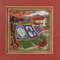 Country Quilts Cross Stitch Kit Mill Hill 2016 Buttons & Beads Autumn