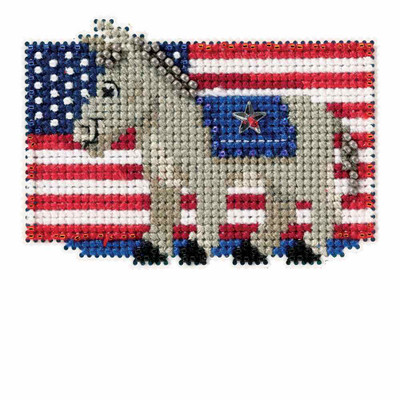 Patriotic Blue Bead Cross Stitch Kit Mill Hill 2016 Autumn Harvest