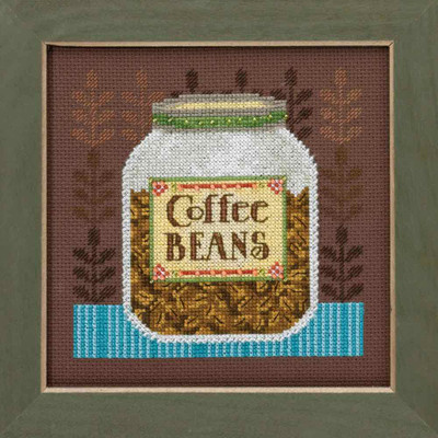 Coffee Beans Cross Stitch Kit Mill Hill Debbie Mumm 2016 Good Coffee & Friends DM301616