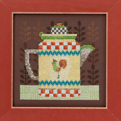 Coffee Pot Cross Stitch Kit Mill Hill Debbie Mumm 2016 Good Coffee & Friends DM301611
