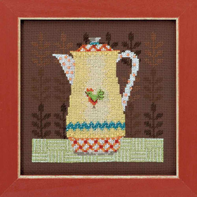 Coffee Server Cross Stitch Kit Mill Hill Debbie Mumm 2016 Good Coffee & Friends DM301613