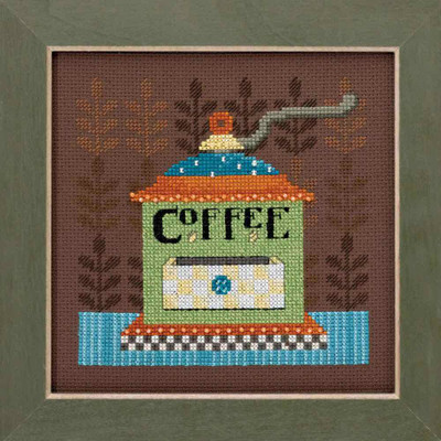 Coffee Grinder Cross Stitch Kit Mill Hill Debbie Mumm 2016 Good Coffee & Friends DM301612