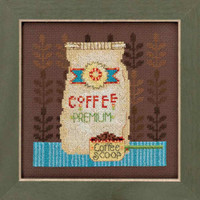 Coffee Grounds Cross Stitch Kit Mill Hill Debbie Mumm 2016 Good Coffee & Friends DM301614