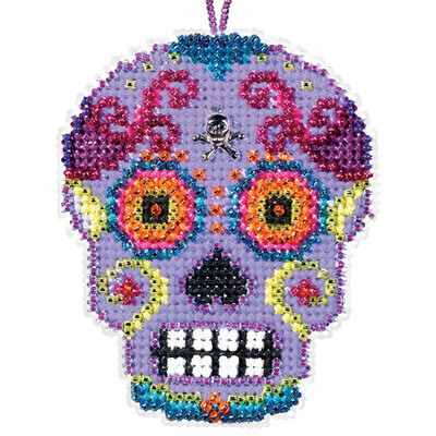 Morado Beaded Cross Stitch Halloween Kit Mill Hill 2016 Calavera MH161621