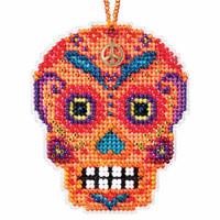 Naranja Beaded Cross Stitch Halloween Kit Mill Hill 2016 Calavera MH161623