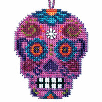 Rosa Beaded Cross Stitch Halloween Kit Mill Hill 2016 Calavera MH161626