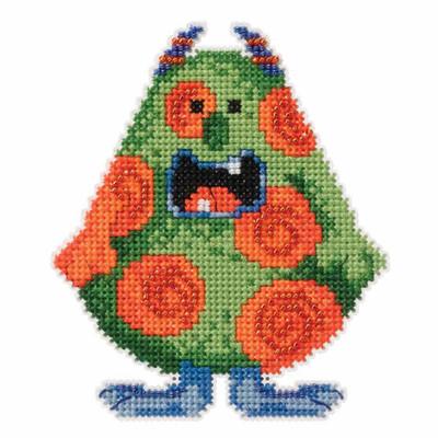 Spot Beaded Cross Stitch Kit Mill Hill 2016 Little Monsters Trilogy MH181623