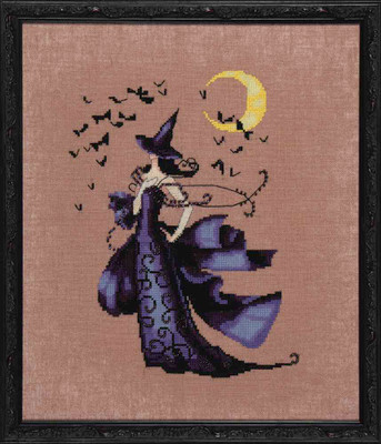 Raven Kit Cross Stitch Chart Fabric Beads Nora Corbett Mirabilia Designs NC222