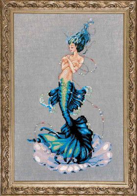Aphrodite Mermaid Kit Cross Stitch Chart Fabric Beads Braid Nora Corbett Mirabilia MD144