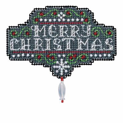 Chalkboard Christmas Cross Stitch Kit Mill Hill 2016 Winter Holiday MH181634
