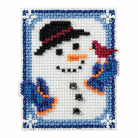 Invisible Snowman Cross Stitch Ornament Kit Mill Hill 2016 Winter Holiday MH181635