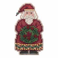 Ye Old Santa Cross Stitch Ornament Kit Mill Hill 2016 Winter Holiday MH181636