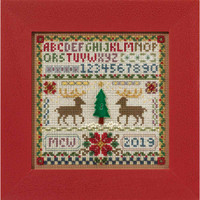 Holiday Sampler Cross Stitch Kit Mill Hill 2016 Buttons & Beads Winter MH141633