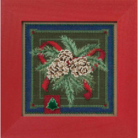 Festive Pine Cross Stitch Kit Mill Hill 2016 Buttons & Beads Winter MH141634