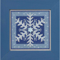 Crystal Snowflake Cross Stitch Kit Mill Hill 2016 Buttons Beads Winter MH141635