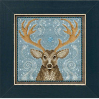 Winter Stag Cross Stitch Kit Mill Hill 2016 Buttons & Beads Winter MH141636