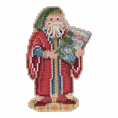 Florence Santa Cross Stitch Kit Mill Hill 2016 Renaissance Santas MH201632