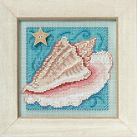 Conch Shell Bead Cross Stitch Kit Mill Hill 2010 Buttons & Beads Spring MH140102