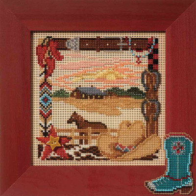 On The Range Cross Stitch Kit Mill Hill 2007 Buttons & Beads Spring MH147106