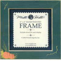 Matte Green with Pumpkins Mill Hill 6 x 6 Wooden Frame GBFRFA5