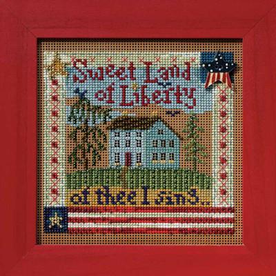 Sweet Liberty Cross Stitch Kit Mill Hill 2008 Buttons & Beads Autumn MH148204