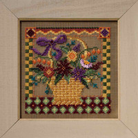 Autumn Basket 2008 Cross Stitch Kit Mill Hill Buttons & Beads Autumn MH148206