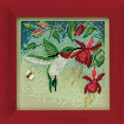 Hummingbird Cross Stitch Kit Mill Hill 2011 Buttons & Beads Spring MH141104