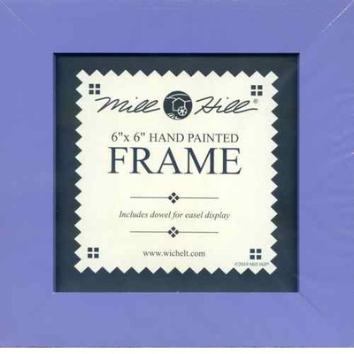 Matte Periwinkle Solid Color Mill Hill 6 x 6 Wooden Frame GBFRM8