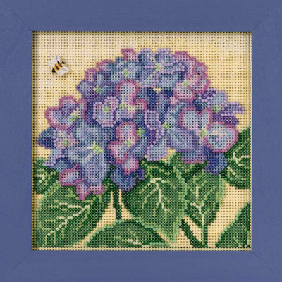 Hydrangea Cross Stitch Kit Mill Hill 2017 Buttons & Beads Spring MH141715