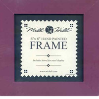 Matte Plum Solid Color Mill Hill 6 x 6 Wooden Frame GBFRM7