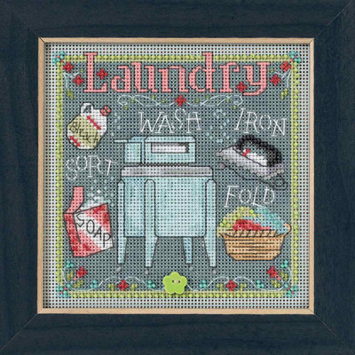 Laundry Cross Stitch Kit Mill Hill 2017 Buttons & Beads Spring MH141716