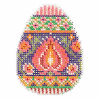 Lotus Egg Beaded Cross Stitch Kit Mill Hill 2017 Spring Bouquet MH181712