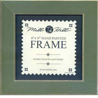 Olive Solid Color Gold Trim Mill Hill 6 x 6 Wooden Frame GBFRM12