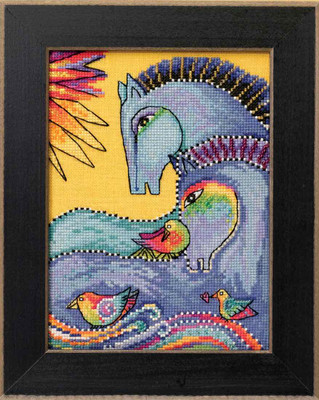 Riviera Horses Cross Stitch Kit (Aida) Mill Hill 2017 Laurel Burch Horses LB301724