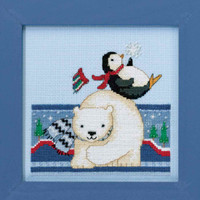 Polar Play Cross Stitch Kit Mill Hill 2017 Debbie Mumm Polar Opposites DM301711