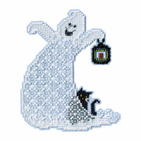 Essence Ghost Beaded Halloween Cross Stitch Kit Mill Hill 2017 Ghost Trilogy MH191723