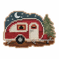 Happy Camper Bead Cross Stitch Kit Mill Hill 2017 Autumn Harvest MH181721