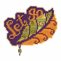 Let Go Bead Cross Stitch Kit Mill Hill 2017 Autumn Harvest MH181724