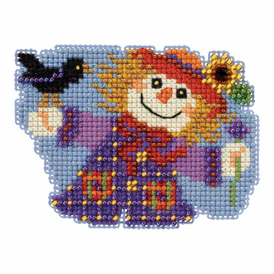Sally Scarecrow Bead Cross Stitch Kit Mill Hill 2017 Autumn Harvest MH181723