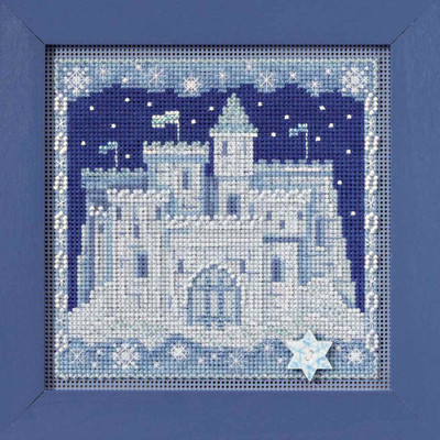 Ice Castle Cross Stitch Kit Mill Hill 2017 Buttons Beads Winter MH141736