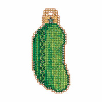 Christmas Pickle Cross Stitch Ornament Kit Mill Hill 2017 Winter Holiday MH181734