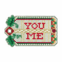 Gift Tag Cross Stitch Ornament Kit Mill Hill 2017 Winter Holiday MH181735